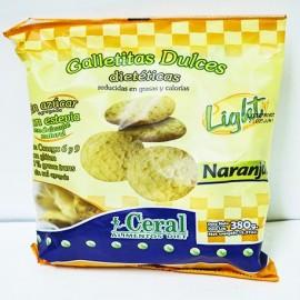 Galletitas dulces de naranja dietéticas light Ceral x 380 g