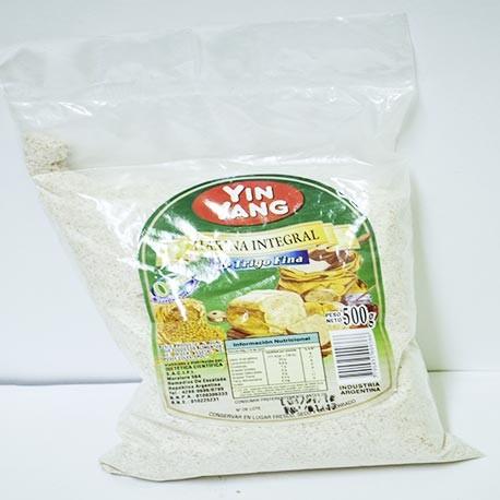 Harina integral de trigo fina yin yang 500 g diet tica - Harina integral de trigo ...
