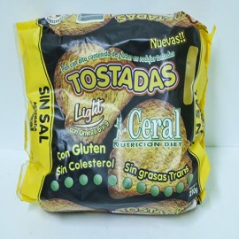 Tostadas con gluten Ceral sin sal 210 g