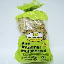 Pan integral multicereal con aceite de girasol sin sal La Zaranda