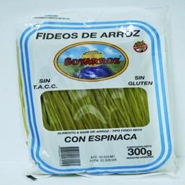 Fideos de arroz Soyarroz Espinaca