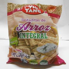 Tostadas integrales de arroz con chia [120 g]